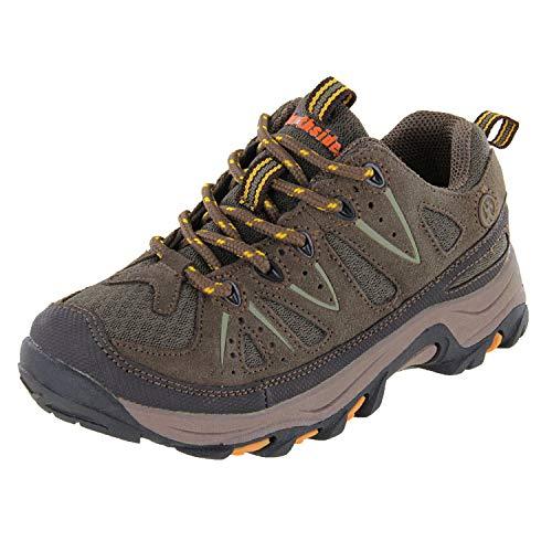 Northside Cheyenne JR Hiking Boot ,Taupe/Mango,5 M US Big Kid