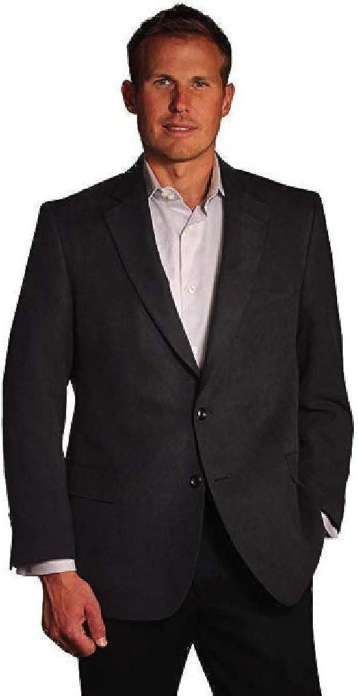 Jean-Paul Germain Classic-Fit Microsuede Blazer, 58R Black