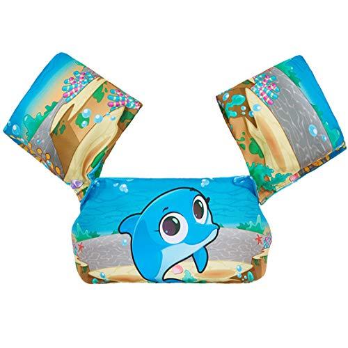 Blauer Delphin Schwimmweste für Kinder Miotlsy-Schwimmhilfe Passend für Kinder und Kleinkinder von 1-8 Jahren 5-30 kg Jungen und Mädchen, Ideal Schwimmhilfen Schwimmflügel