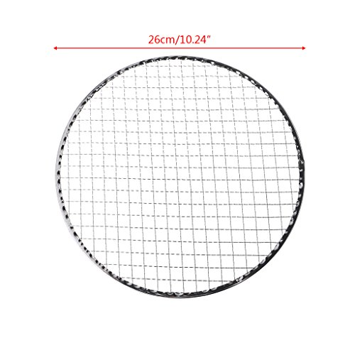 Best Deals! Leidersty Disposable BBQ Grill Mesh Wire Net for Meat Fish Vegetable Tool - Outdoor Camp...