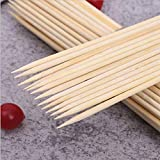 200 PCS 8 inch Natural Bamboo Skewers for BBQ, Fruit Kabob, Appetizer, Grilling, Shish Kabob, Chocolate Fountain, Marshmallows, Diameter 4mm, More Size Choices 6' 10' 12'