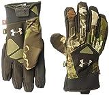 Under Armour Women's Primer Gloves, Ridge Reaper Camo Forest (943)/Metallic Beige, Small