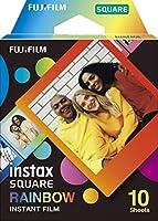 FUJIFILM スクエアフォーマットフィルム instax SQUARE レインボーフレーム 10枚入 INS SQ RAINBOW WW1