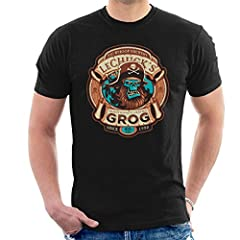 Ghost Pirate Grog Monkey Island LeChuck Men's T-Shirt