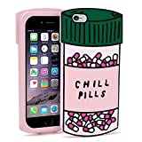 BEFOSSON iPhone 6 Chill Pills case, iPhone 6S Cute case for Girl, Adorable 3D Cartoon Charactor Chill Pills Soft Silicone Stylish Shockproof Protective Phone Case for iPhone 6 / 6S (Chill Pills)