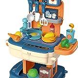 ZXSXRQPA Küchen-Kit für Kinder , Bunte Kinder-KüchenspüleToys, Kindergeschirrspüler, Spielzeug mit fließendem Wasser, automatisches Wasserzyklus-System Playhouse Rollenspielspielzeug für Kinder