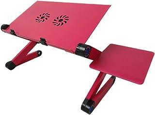 Bases de portátiles Tabla plegable de la fan del doble de la tabla de la mesa del ordenador de la tabla del ordenador portátil de la aleación de aluminio con el radiador Tablas de servicios públicos