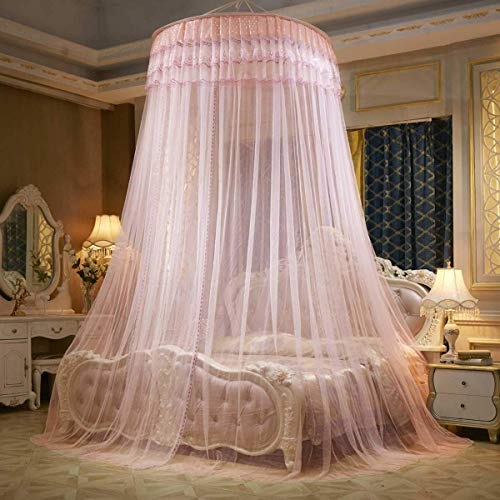 Princess Bed Romantic Ronde Dome Klamboe Bed Canopy Play Tent Kinderkamer thuis beddengoed Decor, Purple QIANGQIANG (Color : Orange)