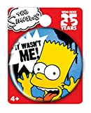 Simpsons The Bart Single Button Pin Action Figure