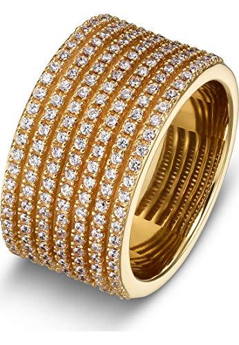 JETTE Silver Damen-Damenring 925er Silber 53 Gold 32010182