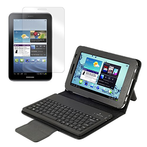 New Bluetooth Keyboard Folio with Screen Protector for Samsung Galaxy Tab 2 7.0 Tablet