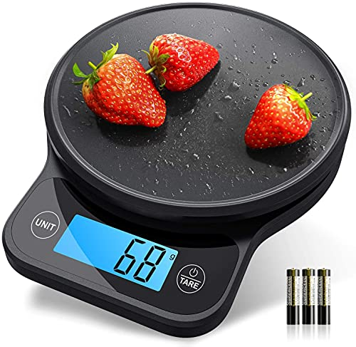 Nicewell Kitchen Scale, High Accurate Digital Food Scale for Weigh Loss, Measures in Grams and Ounces for Cooking Baking, 6kg/13lbs Max, with Pastry Mat