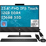 2021 Flagship HP Pavilion 24 All-in-One Desktop 23.8' FHD IPS 72% Touchscreen Intel Hexa-Core i5-10400T(i7-9700T) 12GB DDR4 256GB SSD Wireless Charging WiFi B&O Webcam Win 10 + iCarp HDMI Cable