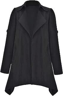 Mogogo Women's Solid-Colored Plus-Size Wrap Coat Regular Cardi Overcoat