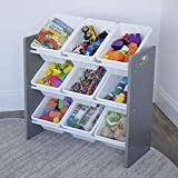 Humble Crew, Grey/White Toy Organizer, 9 Bin Storage, 24' Tall