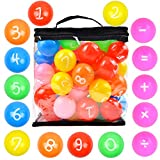 Youngever 60 Pack Pit Balls, Phthalate Free BPA Free Crush Proof Plastic Ball