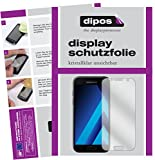 dipos I 2X Schutzfolie klar kompatibel mit Samsung Galaxy A3 (2017) Folie Bildschirmschutzfolie