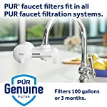PUR RF3375 Water Filter Replacement for Faucet Filtration Systems, 2 Pack, Multicolor 17 PUR BASIC WATER FILTER REPLACEMENT: PUR's genuine faucet filters are certified to reduce over 70 contaminants, including 99% of lead, so you know you are drinking cleaner, great-tasting water FAUCET WATER FILTER: PUR faucet filters provide 100 gallons of filtered water, or 2-3 months of typical use, before you need a replacement. Only PUR faucet filters are certified to reduce contaminants in PUR faucet filter systems WHY FILTER WATER? Home tap water may look clean, but may contain potentially harmful pollutants & contaminants picked up on its journey through old pipes. PUR water filters, faucet filtration systems & water filter pitchers reduce these contaminants