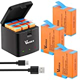 Vemico Hero 9 Black Battery Charger Kit 1800mah Replacement Batteries (3 Packs) and 3-Channel LED Type C USB Charger Rechargeable Battery for GoPro Hero 9 Black (Fully Compatible with Original)