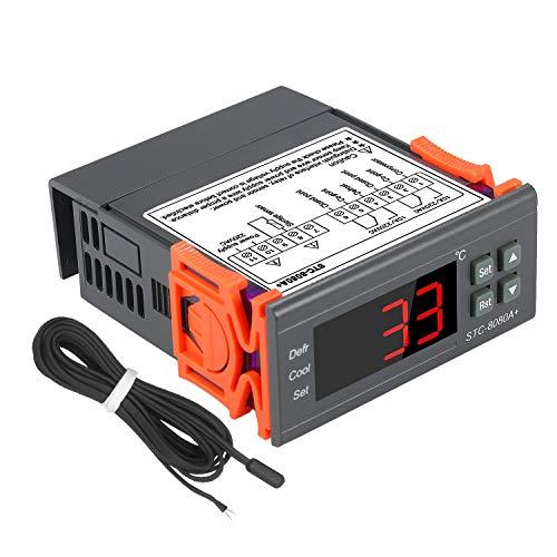 KKmoon STC-808080A Thermostaat voor automatisch ontdooien koelkast met sonde NTC-sensor 220 V