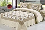 GS - Juego de ropa de cama de 3 piezas, edredón y 2 fundas de almohada, diseño clásico tipo...