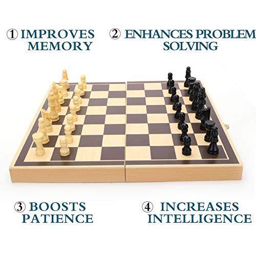 Schachspiel, Schachbrett Holz, Schachspiel Holz - 30 x 30 cm