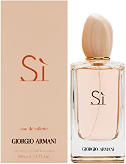 Giorgio Armani Eau De Toilette Si Spray for Women, 3.4 Ounce