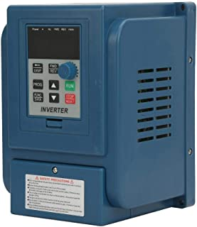 VFD Motor Drive Inverter Converter, 380VAC 6A High Precision Variable Frequency Drive VFD PWM Adjustable Speed Controller with Good Anti-Trip Performance for 3-Phase 2.2KW AC Motor