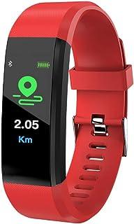 Fitness Trackers Pulsera Actividad,Reloj de Ejercicios con Monitor de Ritmo cardíaco Impermeable IP67 Relojes Inteligentes Podómetro Reloj Rastreadores de Actividad Reloj Contador,Red