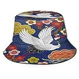 FunnyStar Cappello da sole unisex con volpe e fiori a tesa larga protezione solare estiva spiaggia pescatori cappelli per uomini donne giovani, Uomo, Colore 6, Taglia unica