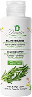 Damin Bio Nature - Champu Anticaida NATURAL Sin Sulfatos con Romero - Champú ORGANICO para Hombre y Mujer 200 ml