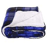 SOCHOW Sherpa Plaid Fleece Throw Blanket, Double-Sided Super Soft Luxurious...