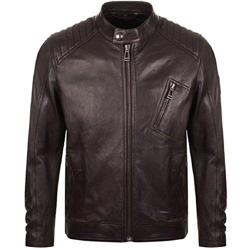 Belstaff 71020539-60018 V-Racer Leather Jacket Dark Brown (50, Dark Brown)