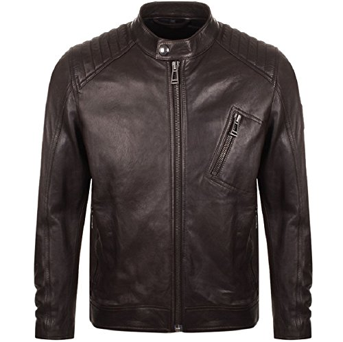 Belstaff 71020539-60018 V-Racer Leather Jacket Dark Brown (52, Dark Brown)