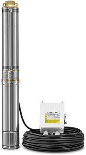 TROTEC Bomba para pozo profundo TDP 5500 E, Capacidad de bombeo: 6000 l/h, Carcasa De Acero Inoxidable, IP68