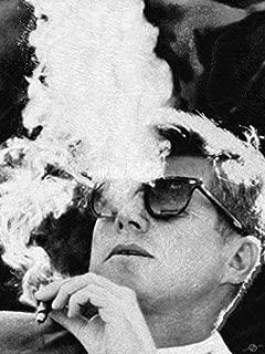 Imagekind Wall Art Print Entitled John F Kennedy Cigar and Sunglasses Black and Whit by Tony Rubino   16 x 21