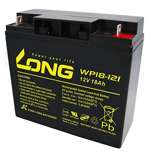 Kung Long WP18-12I Akku 18Ah 12V AGM zyklenfest Blei Batterie Rasenmäher Rasentraktor Aufsitzmäher Boot Scooter 17Ah 19Ah 20Ah 22Ah 23Ah AKKUman Edition