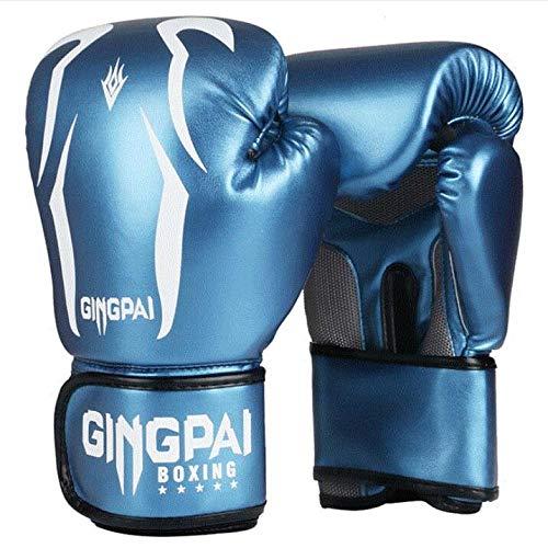 Set di guanti da boxe per bambini, 6 oz, 8 oz, guanti da boxe, guanti da boxe da 6 a 16 anni, Muay Thai Taekwondo Sanda Fight | nero, bianco, rosso, blu, Scorpione blu, 8 oz