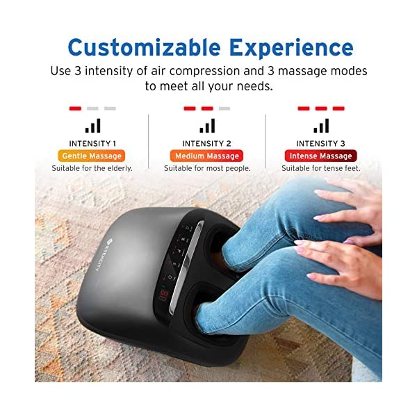 Etekcity Foot Massager Machine with Heat and APP Remote, Gifts for Women Mom Men Dad, Shiatsu Deep Kneading & Multi Air…