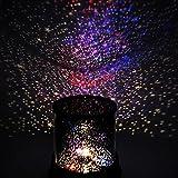 Murieo Veilleuse LED Night Light Star Bébé Enfants Sommeil USB Projecteur Rotation Lampe de Lumière Colorée (noir)