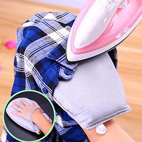 MZY1188 Mini Almohadilla de Planchado de Mano- Soporte para Tabla de Planchar con Mangas Guante Resistente al Calor, Ayuda rápida para Planchar Mangas, cuellos, Bolsillos o Corbatas