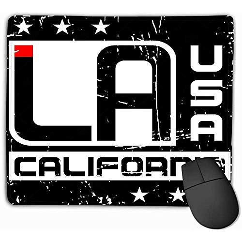 GWrix Alfombrilla de ratón Personalizada, 30X25 cm Diseño de Alfombrilla de ratón Impresa única Tipografía Los Ángeles California Estilo atlético Estampado Emblema Plantilla de Ropa Deportiva