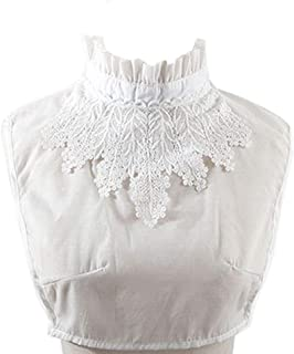 YAKEFJ Fake Collar Detachable Lace Collar Blouse Half Shirts False Collar for Women Girls