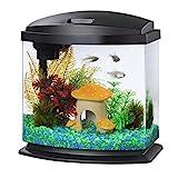 Aqueon LED MiniBow Aquarium Kit with SmartClean Technology, Black, 2.5 Gallon