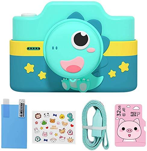 LLDKA Cámara Infantil 3.0 Pulgadas Pantalla táctil Toy Toy Digital Video Multifunción con Tarjeta SD de 32GB Selfie Recargable USB,Azul