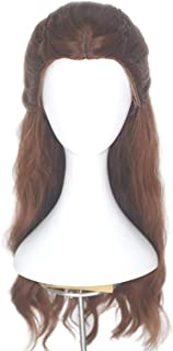 Miss U Hair Girl's Long Wavy Wig with Braids Center Parting Copper Brown Cosplay Costume Wig