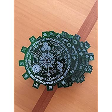 Legend of Zelda Gate of Time Coasters Green Laser Cut and Etched Translucent Acrylic Set of Six