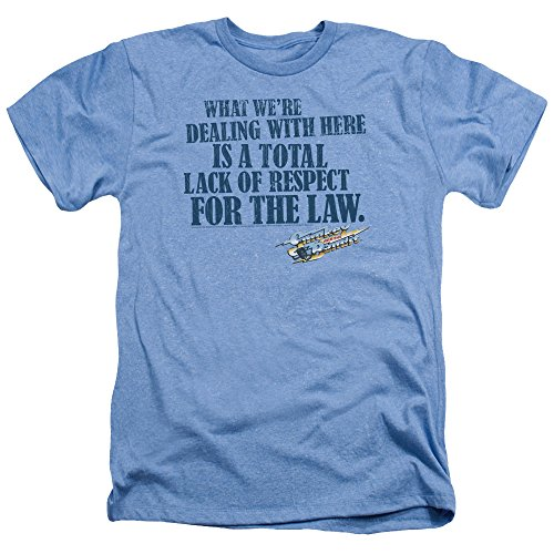 Smokey and The Bandit Lack of Respect Unisex Adult Heather T Shirt for Men and Women, X-Large Light Blue