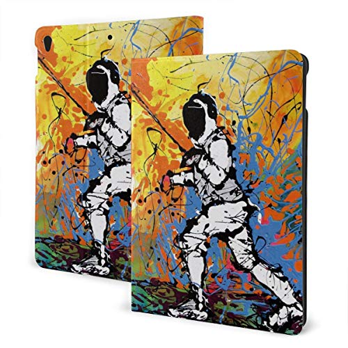 Novelty Fencing Fit Generation Ipad 10.2 Case - Slim Lightweight Smart Shell Stand Cover with Translucent Frosted Back Protector