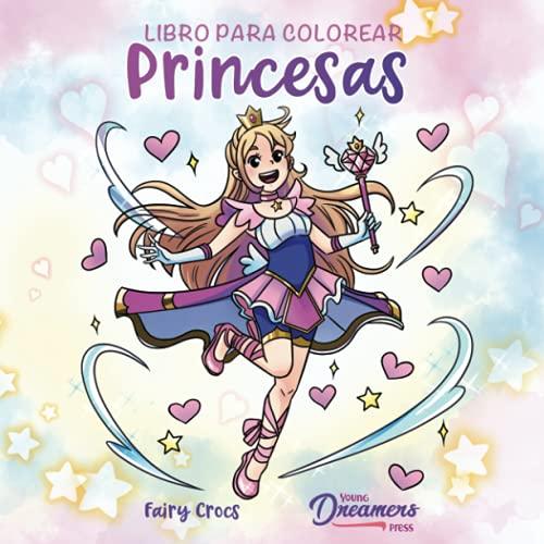 Libro para colorear princesas: Para niños de 4 a 8 años, 9 a 12 años (Cuadernos para colorear niños)